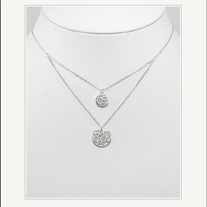 """silver 925 swirl necklace expandable 16.5 to 17.5"""""""